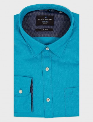 Blackberrys formal aqua hued shirt