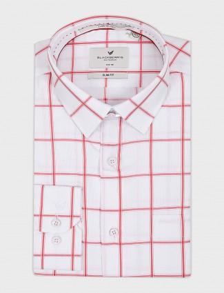 Blackberrys white hue checks pattern shirt