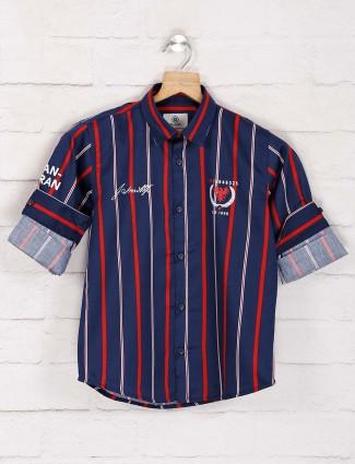 Blazo blue stripe boys shirt