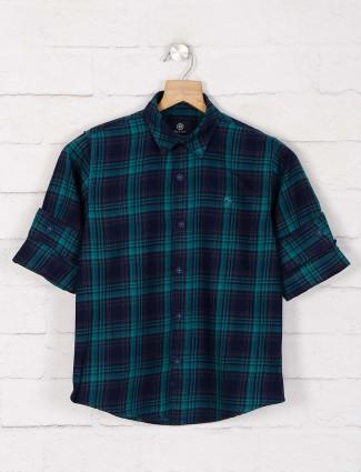 Blazo green checks casual wear shirt