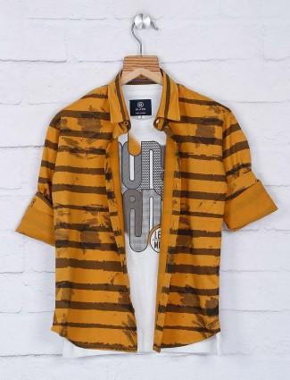 Blazo mustard yellow full sleeves shirt