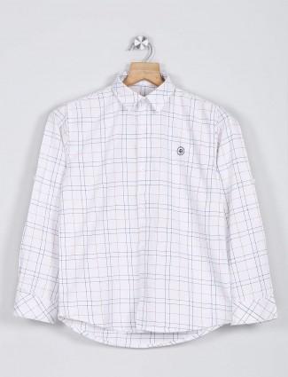 Blazo white checks casual wear shirt