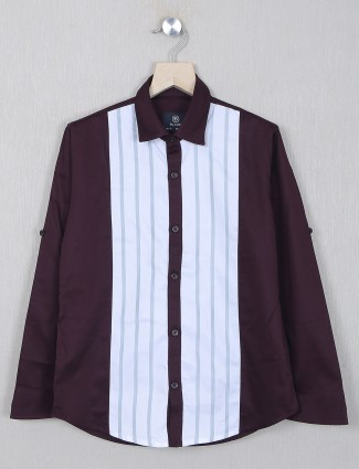 Blazo wine tint solid style casaul shirt for boys
