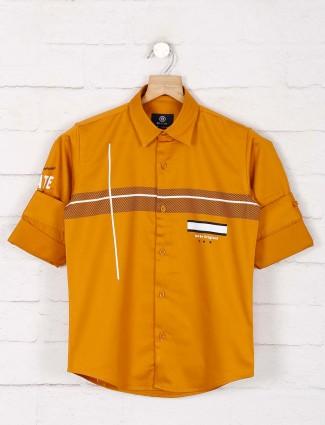Blazo yellow stripe full sleeves shirt