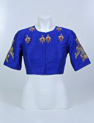 Blue and green shade designer blouse