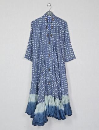 Blue casual wear cotton kurti