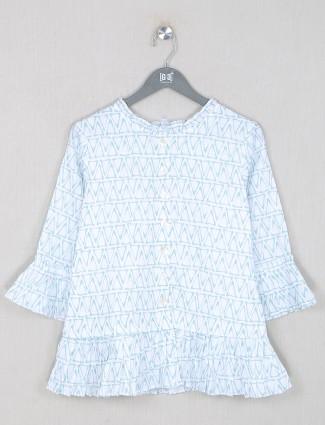 Boom aqua shande printed top in cotton
