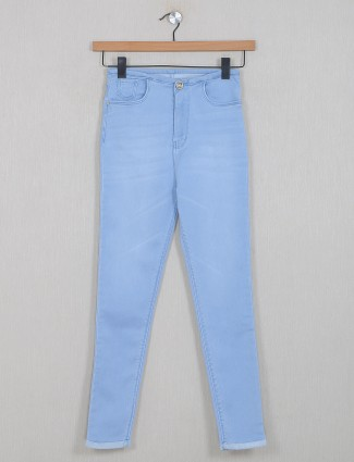 Boom ice blue shade jeans for women in denim