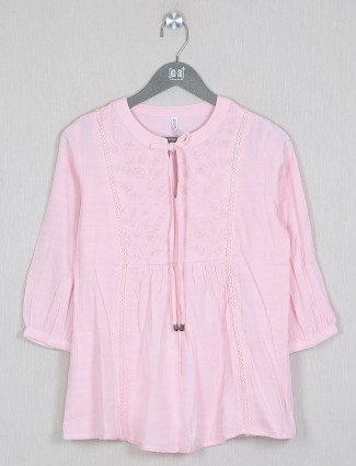 Boom casual event pink shade top in cotton