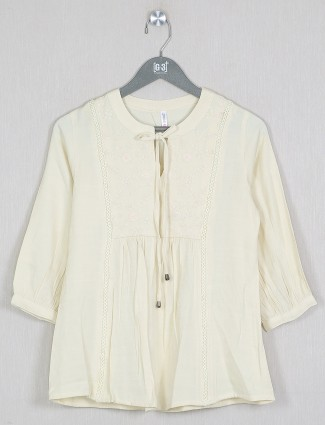 Boom casual style yellow shade top in cotton
