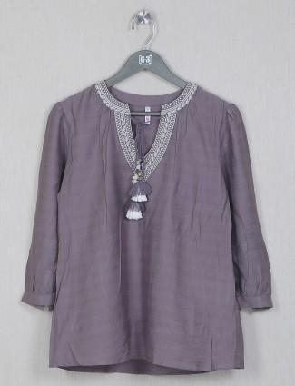 Boom mauve purple cotton top