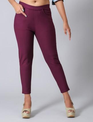 Boom purple jeggings in cotton