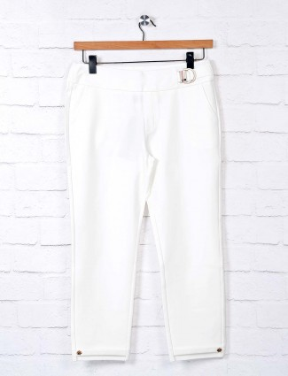 Boom solid white stylish jeggings