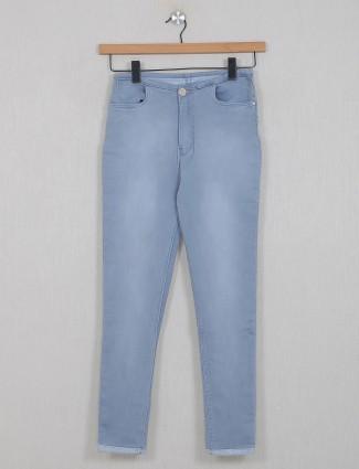 Boom stone blue casual wear denim jeans for women