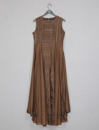 Brown cotton kurti for casual day out
