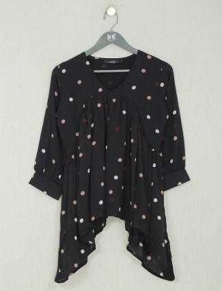 Casual wear black georgette  top for women