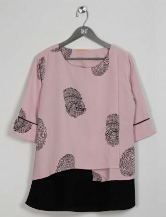 Casual wear powder pink cotton top