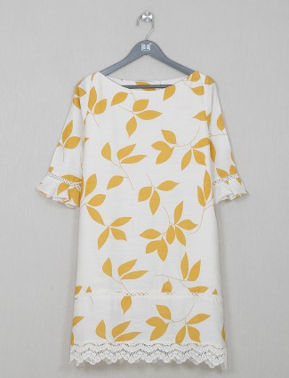Casual wear printed off-white in cotton