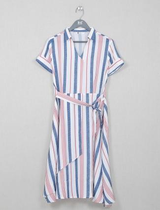 Casual wear stripe white cotton wear kurti