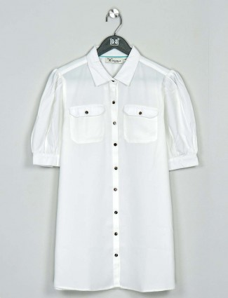 Casual wear white cotton top
