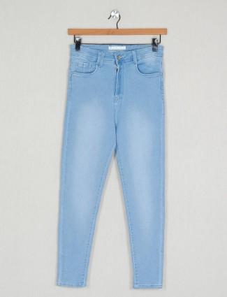 Causal wear blue women wear solid denim