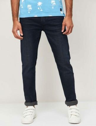 Celio navy solid denim slim fit jeans