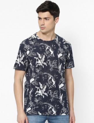 Celio printed black casual wear t-shirt