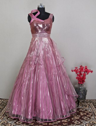 Charming wedding occasions onion pink gown for women