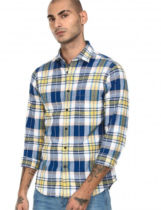 Checks style blue shirt from US POLO