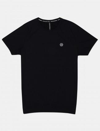 Chopstick black solid cotton mens t-shirt