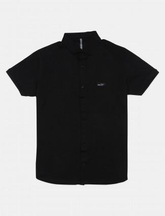 Chopstick black t-shirt in half-sleeve