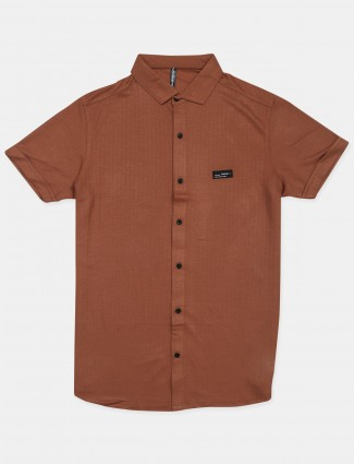 Chopstick brown colored casual cotton shirt
