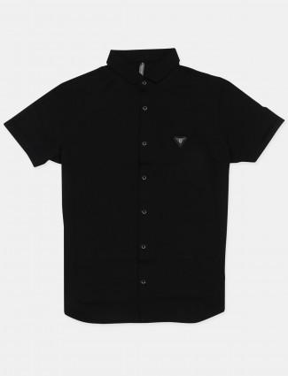 Chopstick casual cotton shirt in black