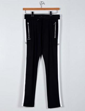 Chopstick comfortable black night track pant