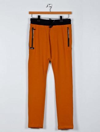 Chopstick orange mens cotton track pant