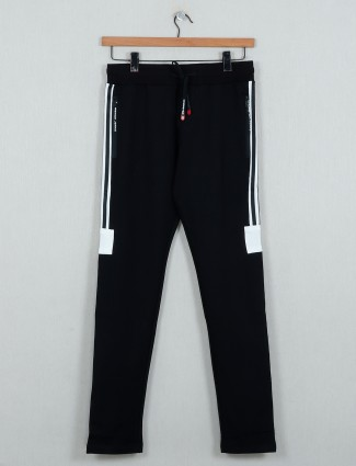Chopstick solid black comfortable track pant