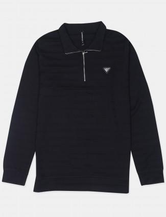 Chopstick solid style black shade mens t-shirt