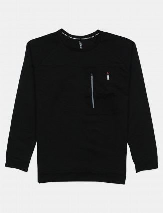 Chopstick solid style black shade t-shirt in cotton