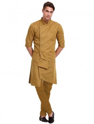 Classy brown cotton waistcoat set