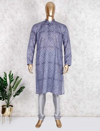 Classy grey kurta suit in cotton