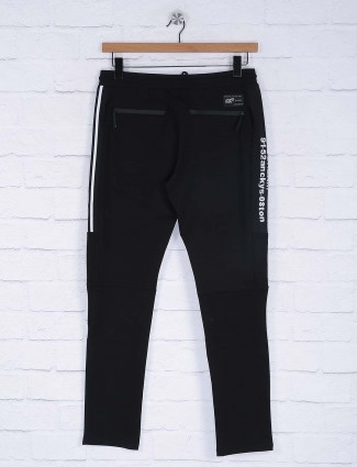 Cookyss black colored cotton track pant