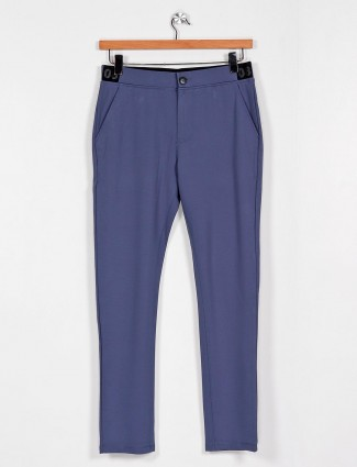 Cookyss blue cotton night track pant