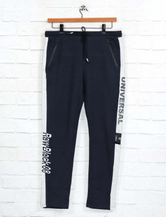 Cookyss cotton navy track pant for gym