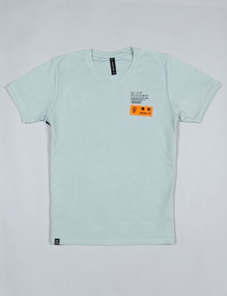 Cookyss green printed cotton t-shirt for man
