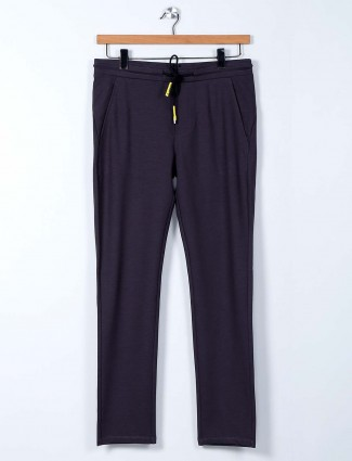 Cookyss grey narrow fit cotton mens track pant
