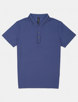 Cookyss printed solid violet polo t-shirt