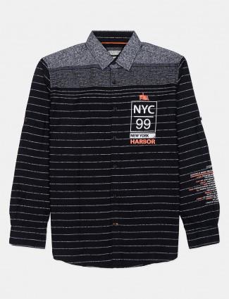 Copperstone black stripe casual shirt