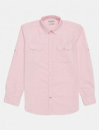 Copperstone solid pink casual shirt in cotton