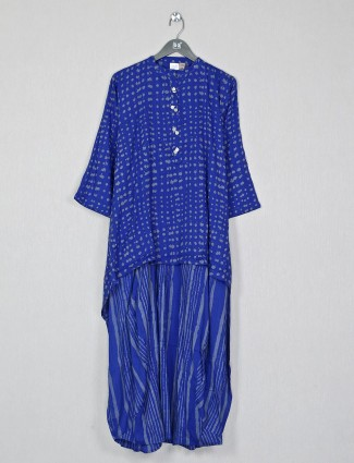 Cotton blue kurti for casual look