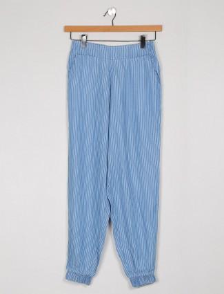 Cotton blue pretty stripe cotton pyjama